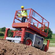 SkyJack Rough Terrain Scissor Lift 4
