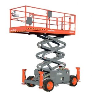 SkyJack Rough Terrain Scissor Lift 7